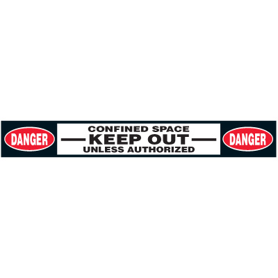 Confined Space Floor Marking Strips - Danger Confined Space Keep Out
