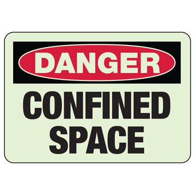 Danger Confined Space - Industrial OSHA Machine Hazard Sign