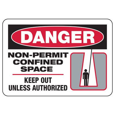 Danger Non-Permit Confined Space - Industrial Confined Space Sign