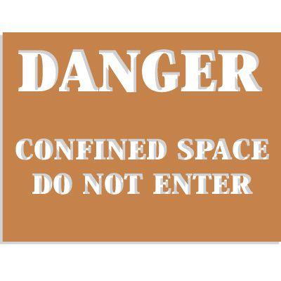 Confined Space Stencils - Danger - Do Not Enter