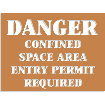 Confined Space Stencils - Danger - Entry Permit Required