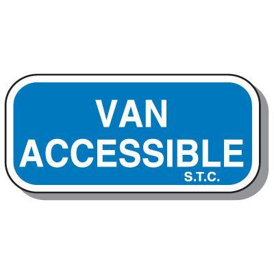 Connecticut State Handicap Signs - Van Accessible S.T.C.