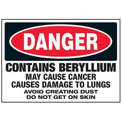 Beryllium Cause Cancer Labels