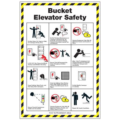Conveyor Safety Poster - Bucket Elevator Safety