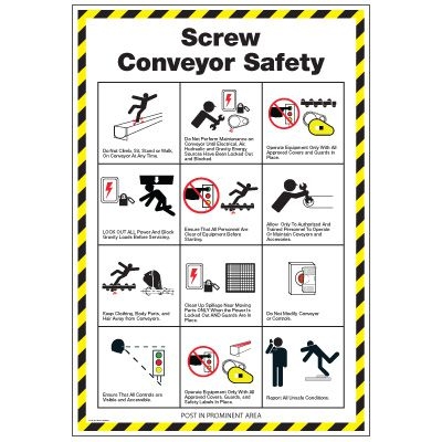 Conveyor Safety Poster - Screw Conveyor Safety