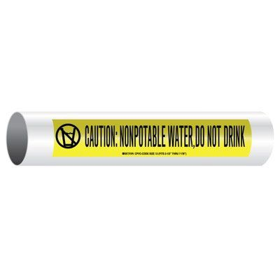 CPVC-Code™ Nonpotable Water Pipe Markers - Do Not Drink