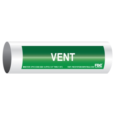 CPVC-Code™ Pipe Markers - Vent