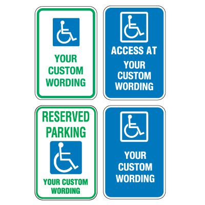 Custom Aluminum ADA Parking Signs