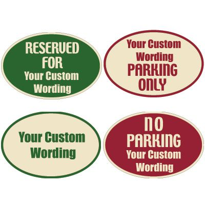 Custom Designer Oval Property Signs