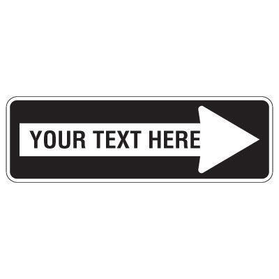 Custom Directional Arrow Traffic Sign