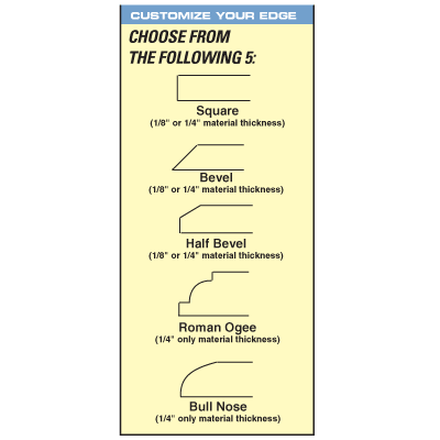 Custom Edged ADA Signs - 12 x 12