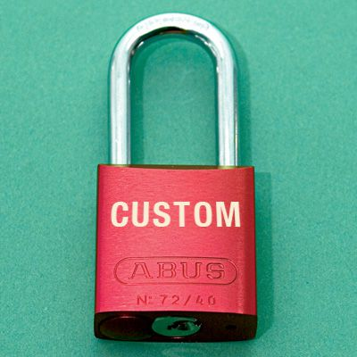 Custom Engraved Aluminum Padlocks