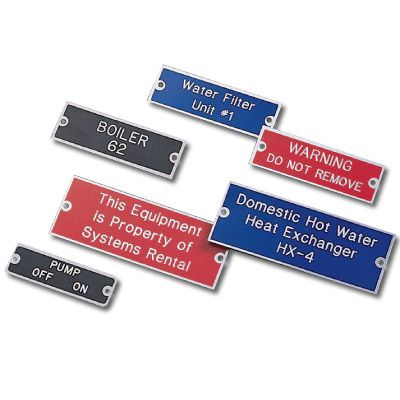 Custom Engraved Aluminum Equipment Nameplates
