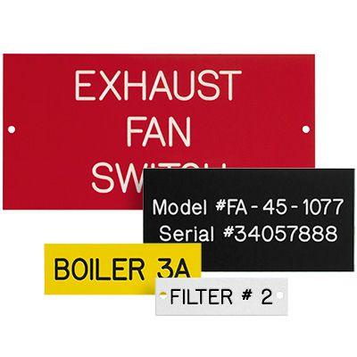 Custom Engraved Phenolic Plastic Equipment Nameplates
