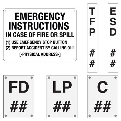 Custom Equipment Designation Signs