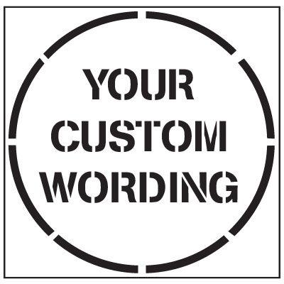 Custom Floor Stencils
