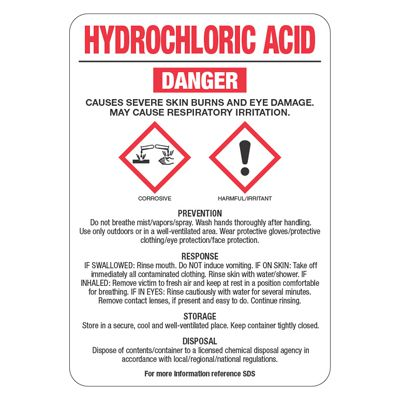 Low Quantity Custom GHS Chemical Labels