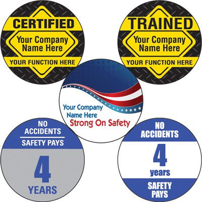 Custom Safety Hard Hat Labels