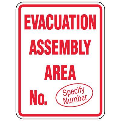 Custom Heavy-Duty Evacuation Sign