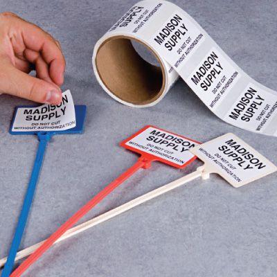 Custom Heavy Duty Tie Marker Labels