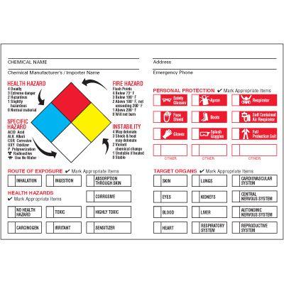 Custom Chemical Target Organ Label