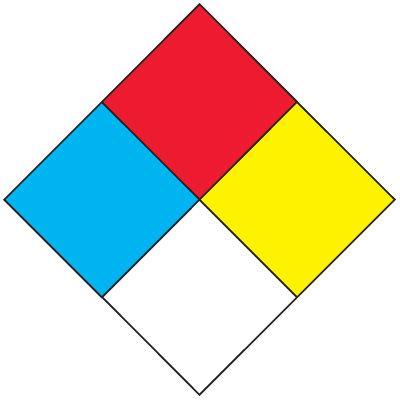 Custom NFPA Diamond Chemical Label