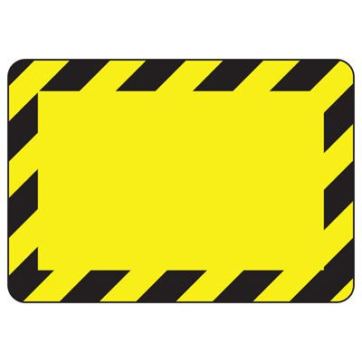 Blank Yellow/Black Bordered Write-On - Custom Write-On Signs