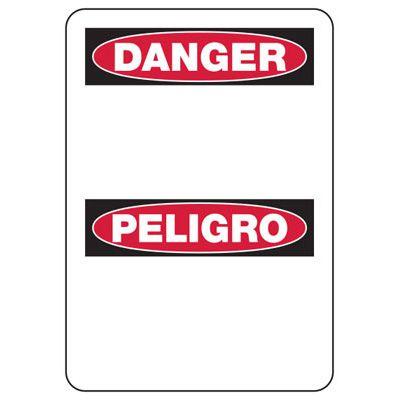 Danger Blank Write-On - Bilingual Custom Write-On Signs