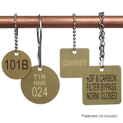 Custom Engraved Brass Valve Tags