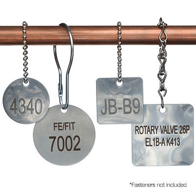 Custom Engraved Stainless Steel Valve Tags