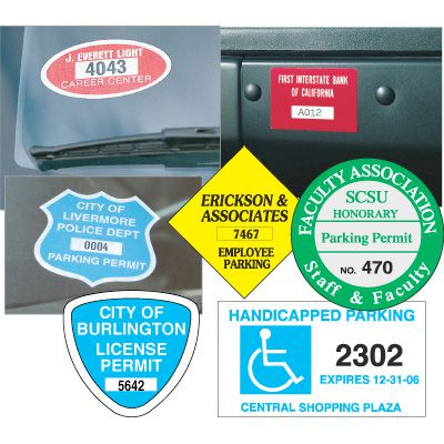 Custom Parking Permit Decals