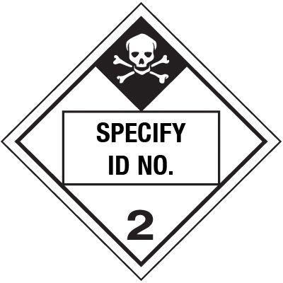 Custom Class 6 Poison DOT Placard