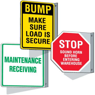 Custom Reflective Flanged Traffic Signs