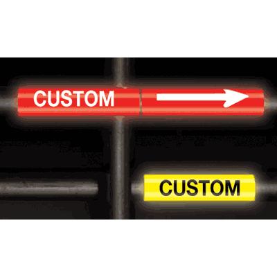 Custom Reflective Opti-Code™ Self-Adhesive Pipe Markers