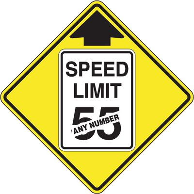 Custom Reflective Warning Sign - Speed Limit