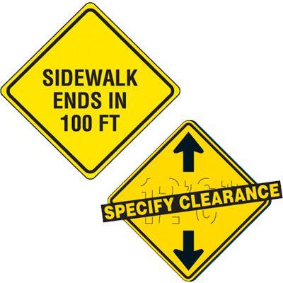 Custom Reflective Warning Signs