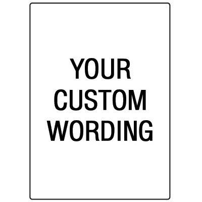 Custom Safety Floor Signs