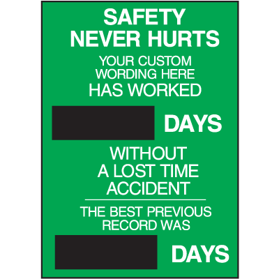Semi-Custom Safety Scoreboards