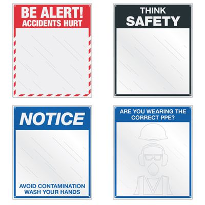 Custom Safety Slogan Mirrors