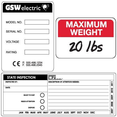 Custom Self-Laminating Paper Labels