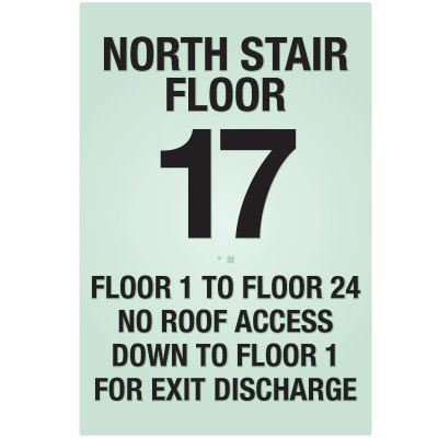 Custom SetonGLO™ NFPA Stairwell Signs