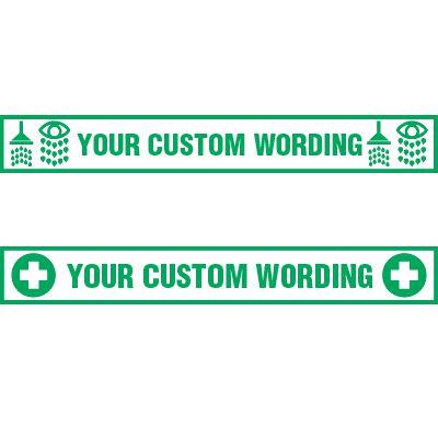 Custom Shower, Eyeswash and First Aid Floor Decals