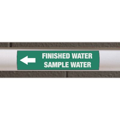 Custom Size Self-Adhesive Pipe Markers