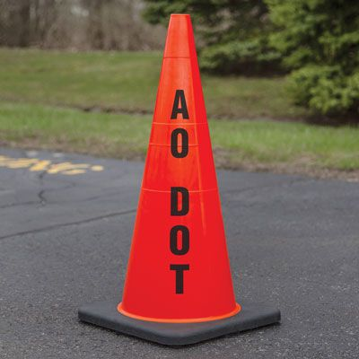 Custom Stenciled Traffic Cones