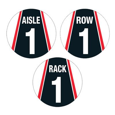 Custom Warehouse Aisle Floor Markers