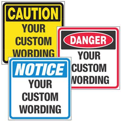 Custom Weatherproof Tyvek® OSHA Signs on a Roll