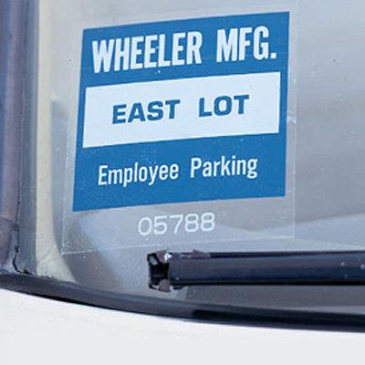 Custom Windshield Parking Permit Decals