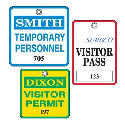 Custom Worded Plastic Badges