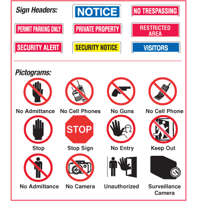 Custom Worded Security Signs