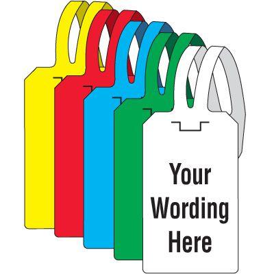 Custom-Worded Self-Fastening Tags